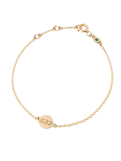 "Golden bracelet ""Unconditional love"""