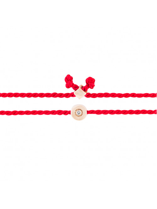 Red thread with diamond and a code against evil