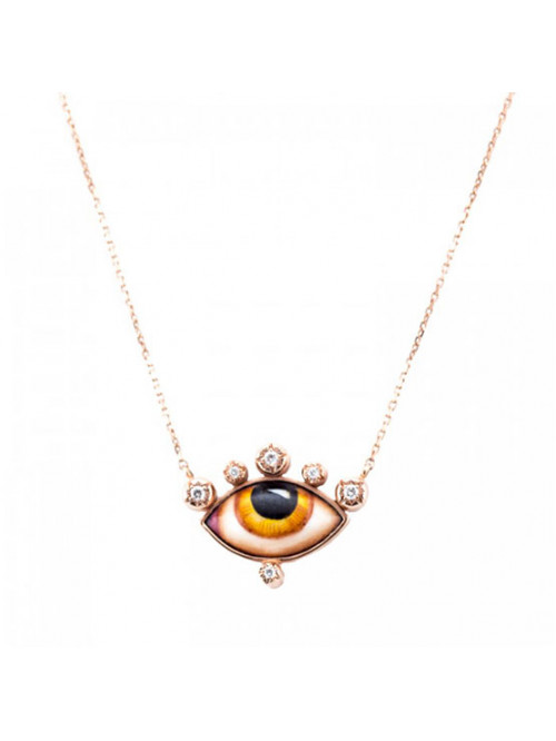 "Lito - necklace ""brown eye"""