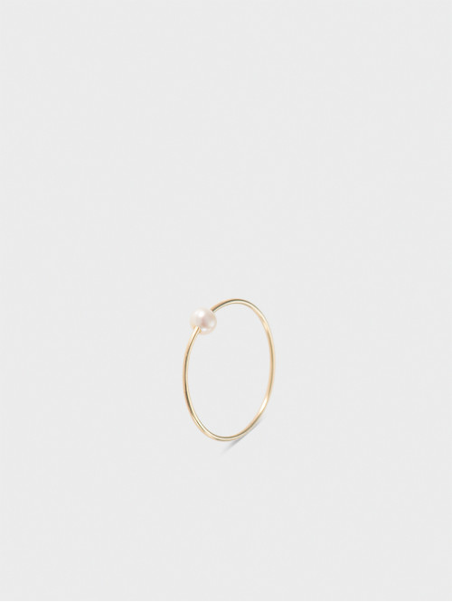 """""""Tender love"""" ring with a pearl"""